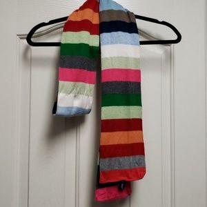 GAP rainbow crazy stripe scarf